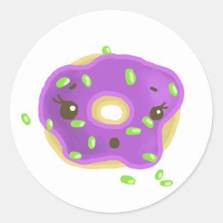 Little donut classic round sticker