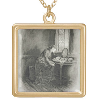 Little Dorrit, from 'Charles Dickens: A Gossip abo Gold Plated Necklace