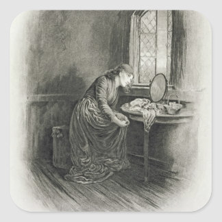 Little Dorrit, from 'Charles Dickens: A Gossip abo Square Sticker
