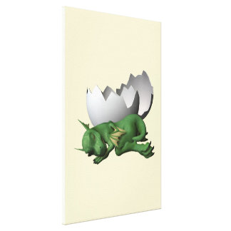 Little Dragon Gallery Wrapped Canvas
