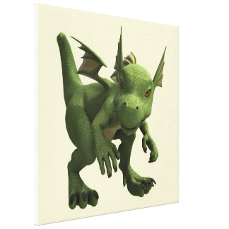Little Dragon Stretched Canvas Print