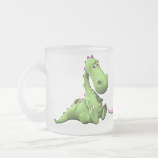 Little Dragon Frosted Glass Coffee Mug