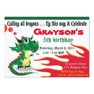 Little Dragon Invitation