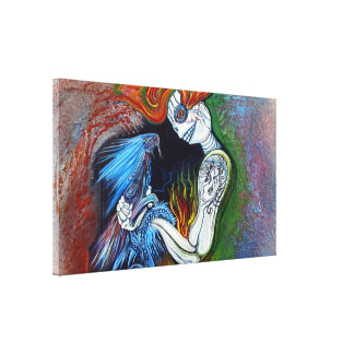 Little Dragon Wrapped Canvas