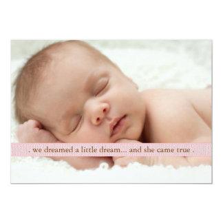 Little Dream Two Photo Modern Birth Announcement