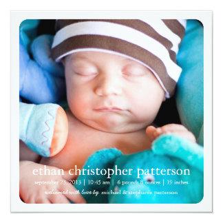 Little Dream Two Photo Square Birth Announcement