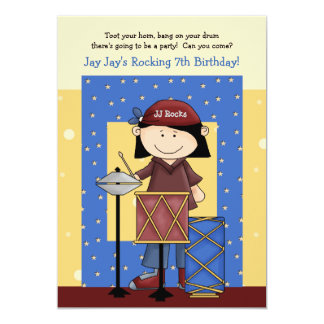 Little Drummer - Birthday Party Invitation
