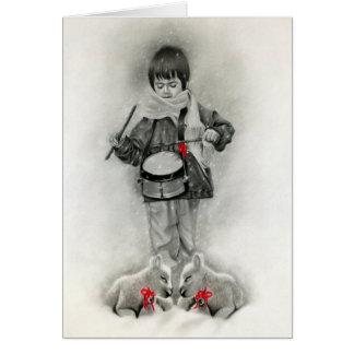 Little drummer boy Card