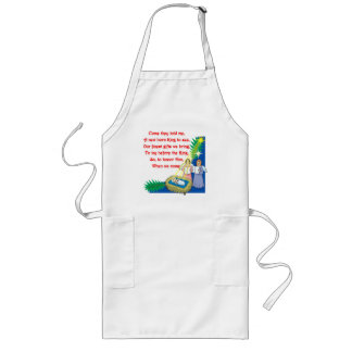 Little Drummer Boy Lyrics on T shirts and Gifts Long Apron