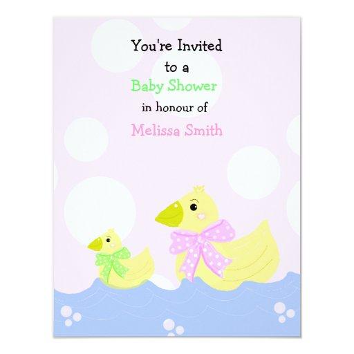 little duck baby shower invitation zazzle