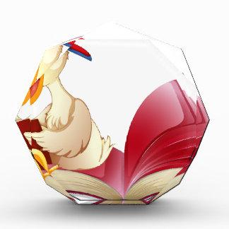 Little duck reading a book acrylic award