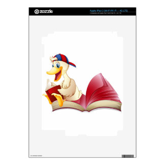 Little duck reading a book decals for iPad 3