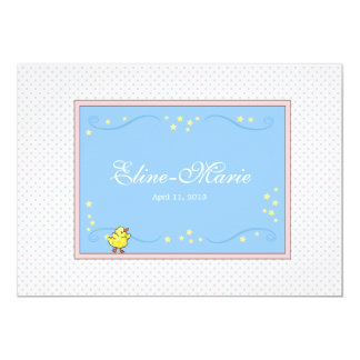 Little Duck with Stars Birth Announcement