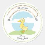 Little Duckling   Baby Shower Favor Sticker