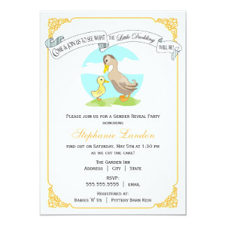 Little Duckling | Gender Reveal Baby Shower Card