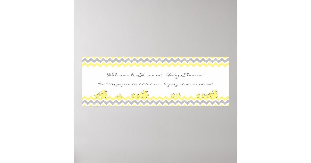 Little Ducks Baby Shower Banner Welcome Sign Zazzle Com