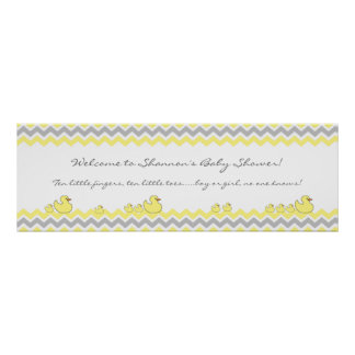 Little Ducks Baby Shower Banner Welcome sign Poster