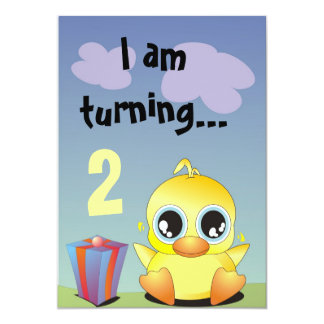 Little Ducky is having a Birthday Party! Card
