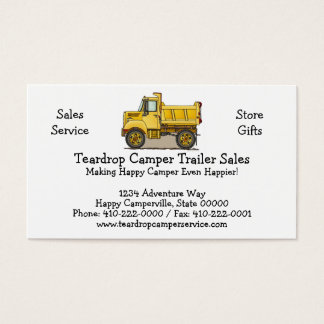 Little Dump Truck Business Card