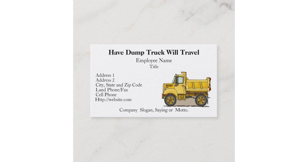 Little Dump Truck Business Cards | Zazzle.com