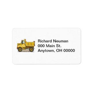 Little Dump Truck Label