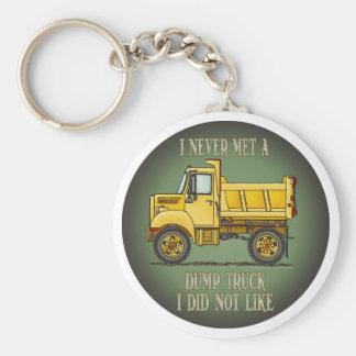 Little Dump Truck Operator Quote Key Chain