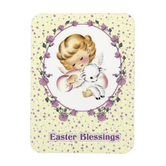 Little Easter Angel with Lamb. Easter Gift Magnets