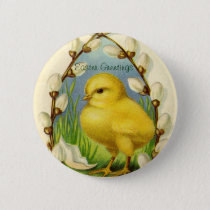 Little Easter Chick Button