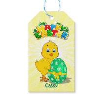 Little Easter Chicken Cartoon Gift Tags