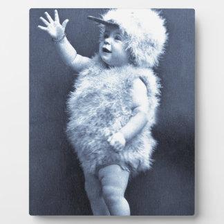 Little Easter Duck Girl Vintage Plaque