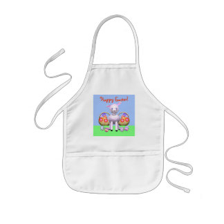 Little Easter Lamb and Baskets Kids' Apron