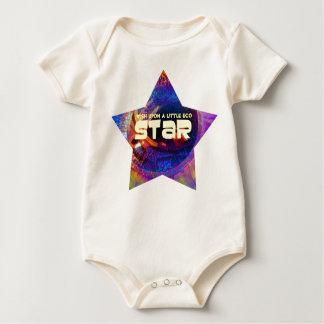 little eco star baby bodysuit