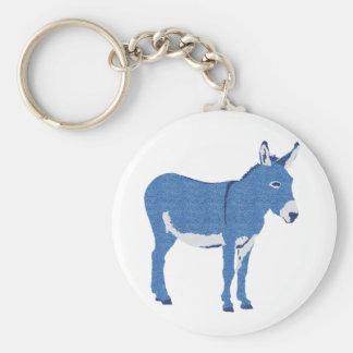 Little Eddie Donkey's Not Really Blue Keychain