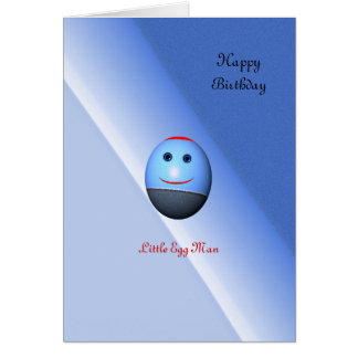 Little Egg Man Birthday (change the text) Card