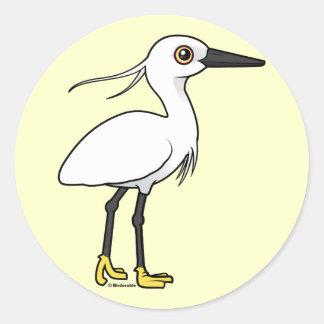 Little Egret Classic Round Sticker