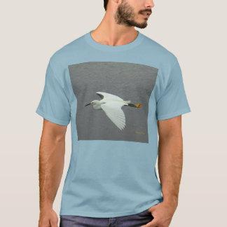Little Egret in flight  for wild life lovers T-Shirt