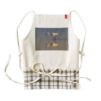 Little egret zazzle HEART apron