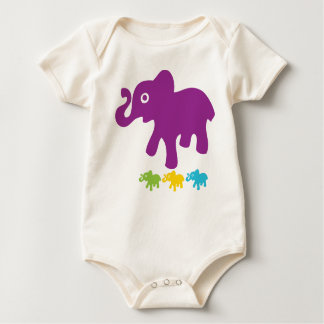 Little Elephant Baby Baby Bodysuit