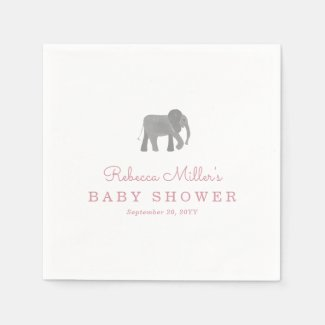 Little Elephant Baby Shower Napkin