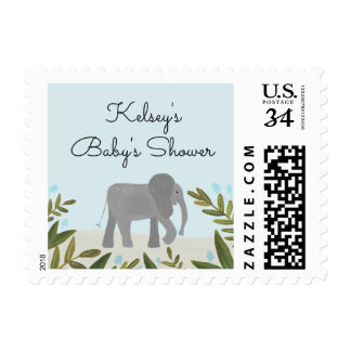 Little Elephant Baby Shower Postage