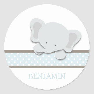 Little Elephant {Blue - Custom}   Stickers
