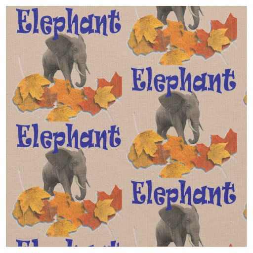 Little elephant kids fabric zazzle for Childrens elephant fabric