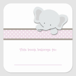 Little Elephant {Pink} | Bookplates