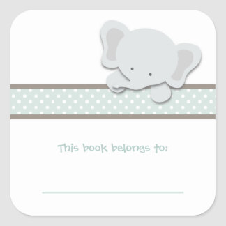 Little Elephant {Teal} | Bookplates
