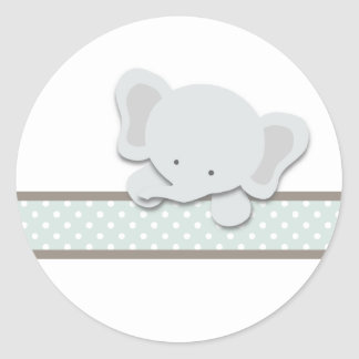 Little Elephant {Teal} | Stickers
