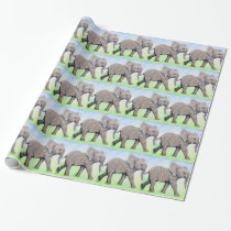 Little Elephant Wrapping Paper