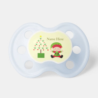 Little Elf Christmas Baby Pacifier