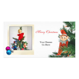 Little Elf Christmas with ornaments Card