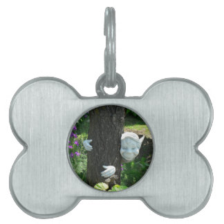 Little Elf FRANKY hugging the tree Pet Name Tag