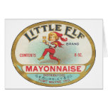 Little Elf Mayonnaise - Vintage Label Card
